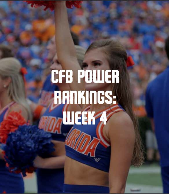 adca130c1 College Football Power Rankings  Week 4 - Barstool Sports