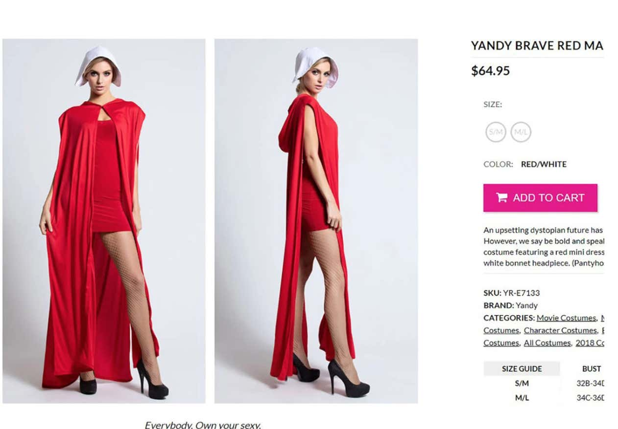 Halloween Costume 38.People Are Mad Online About This Handmaid S Tale Sexy Halloween