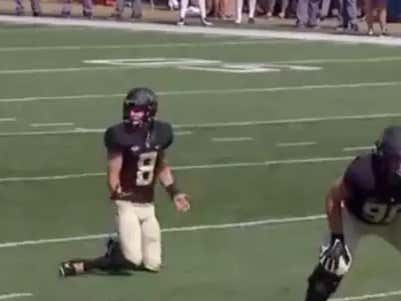 Wake Forest Lines Up For A Field Goal While Kicker Is Chilling On The Sidelines, You'll Never Guess What Happens Next