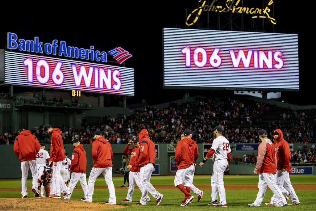 With Their 106th Win Of The Season, The Boston Red Sox Have Broken ... 266667ddf4