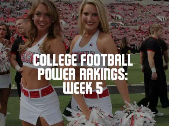 College Football Power Rankings: Week 5