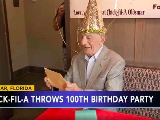 Chick-Fil-A Gives a 100 Year Old Man Free Food for Life as a Birthday Present