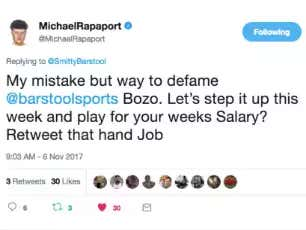 Exhibit A To The Court: Michael Rapaport Is A Fraudulent Sack Of Shit