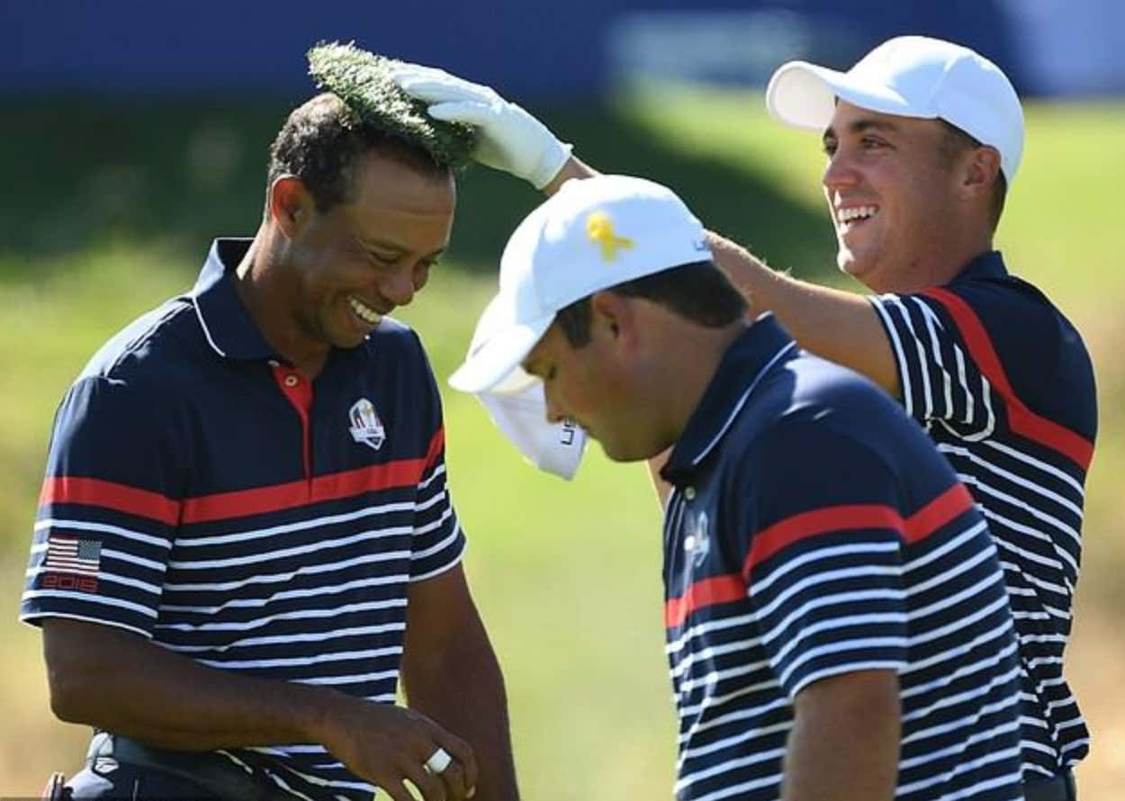 Justin Thomas Placing A Divot On Tigers Bald Spot Means Team Usa Is