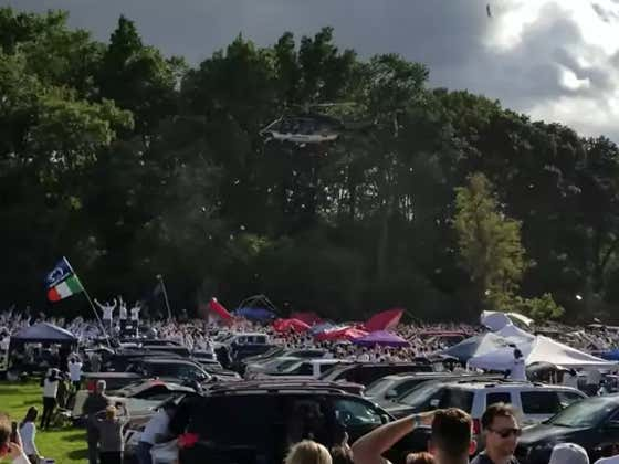 """Penn State Police Use Helicopter To Break Up """"Rowdy"""" Tailgate Like A Bunch Of Assholes"""