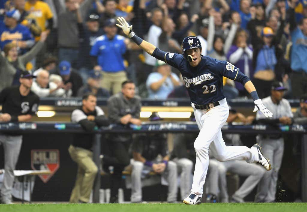 5772f5752fc Brewers Win Game 1 Of The NLDS On A Walk-Off Base Knock By Mike ...