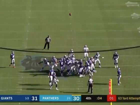 The Spanish Call of Graham Gano's 63 Yard Game-Winning Field Goal Yesterday Was Nothing Short of Spectacular