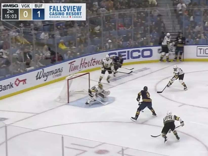 I'm Sure Jack Eichel Would Love If Everybody Would Continue To Leave Him This Wide Open In The Slot