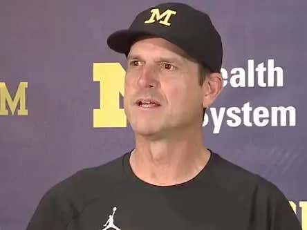 Jim Harbaugh Knows Shea Patterson Is Good Because His 7-Year-Old Daughter Said So