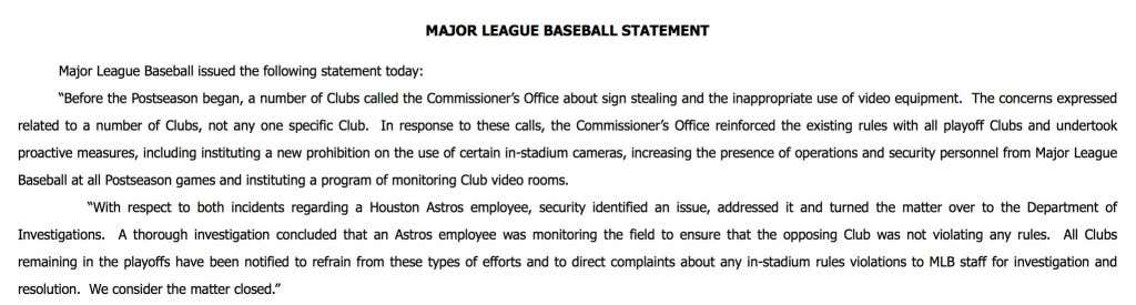 The Houston Astros Were Caught Cheating And Major League Baseball