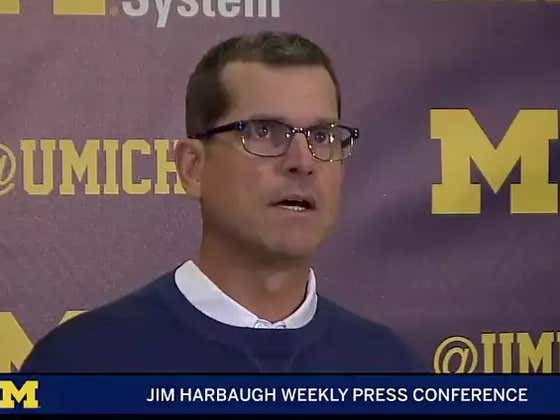"Jim Harbaugh Doubles Down On ""Bush League"" Comment About Little Brother Michigan State"