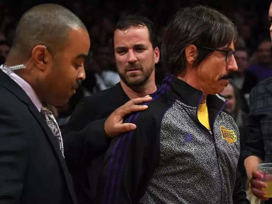 Red Hot Chili Peppers Lead Singer Anthony Kiedis Got Escorted Out Of The Arena During The Lakers/Rockets Brawl For Trying To Get Involved