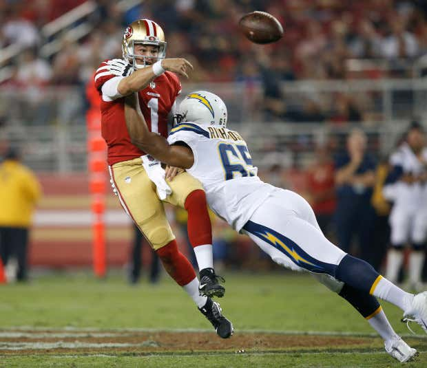 49ers versus Chargers