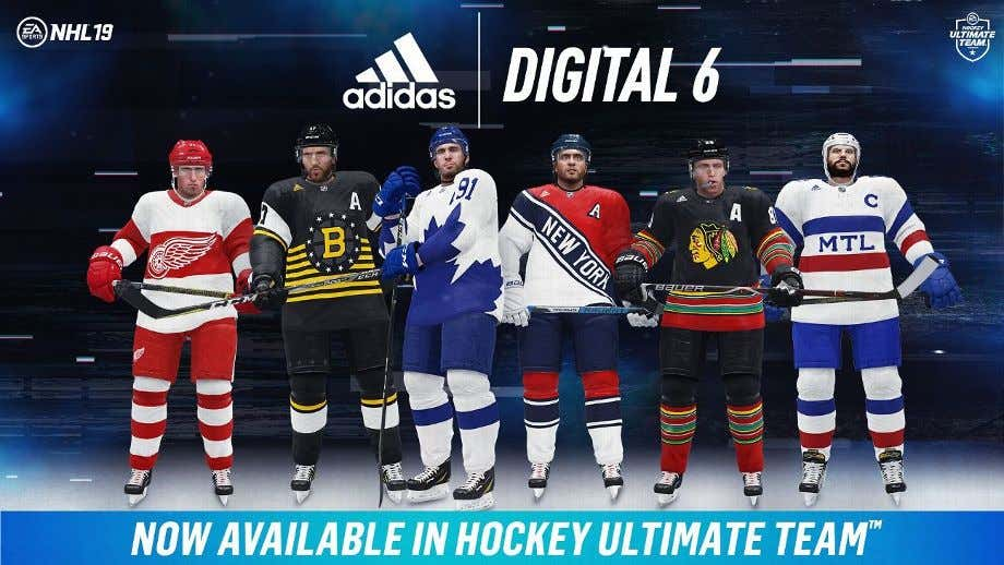 The Original 6 Nhl Teams All Released Digital Only Uniforms And