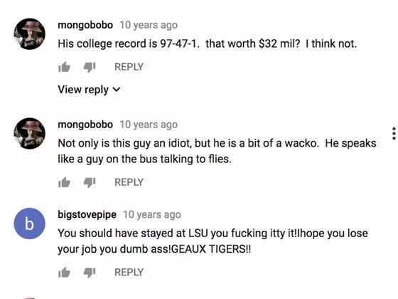 The YouTube Comments On A Nick Saban Press Conference After A 2007 Loss Are Hilarious To Look Back At