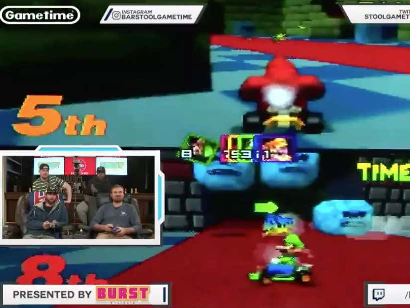 Barstool Office N64 Mario Kart Battle Session Featuring Mickstape, Kate, Handsome Hank, Francis And More