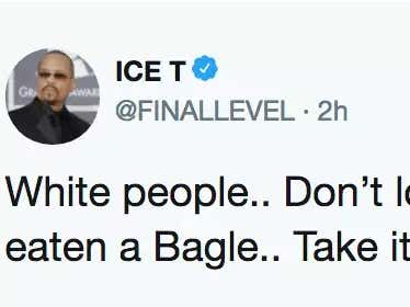 White People Lose Their Minds When Ice-T Says He's Never Eaten A Bagel (His Words Not Mine)