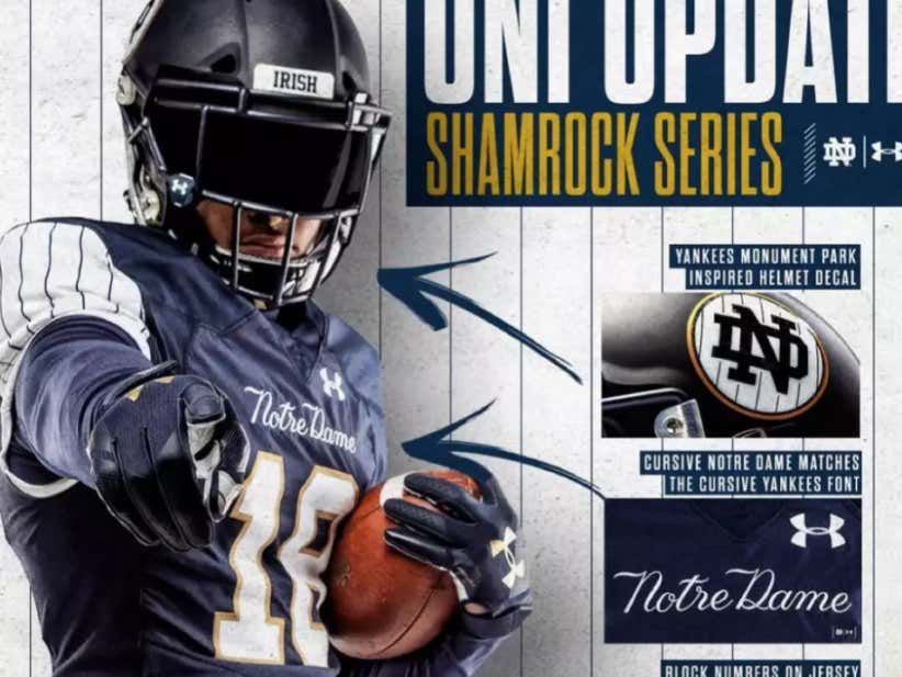 7b072f7f5 Notre Dame Wearing Yankee Pinstripe Jerseys For Saturday s Game Is The  Biggest Example of Stolen Valor These Eyes Have Ever Seen