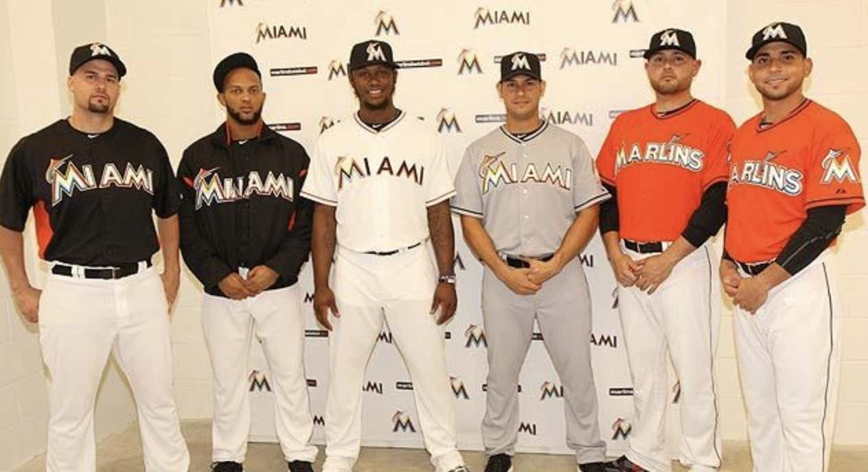 5b2700cd2ac The Miami Marlins Ditch Their Terrible Logo And Uniforms For These ...