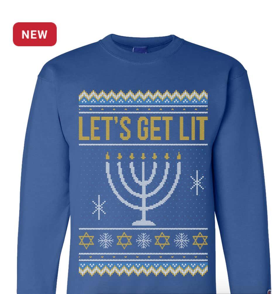 Jewish Christmas Sweater.Scandal Rocks The Barstool Sports Hanukkah Ugly Sweater