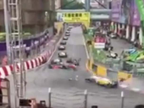 Possibly The Most Unreal Crash You'll Ever See Happened In The Macau Grand Prix This Morning