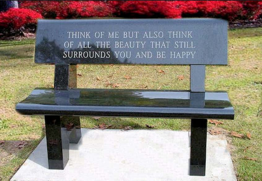 Park Bench Pops Up Quot In Loving Memory Of Saddam Hussein