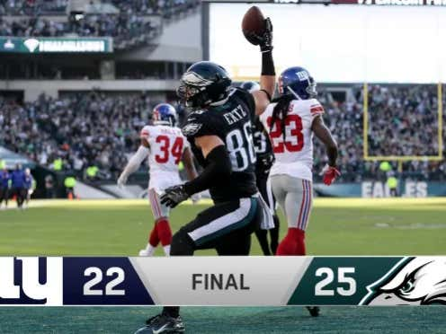 STILL SOMEHOW ALIVE: The Eagles Come Back From Down 19-3 And Beat The Somehow Even More Clueless Giants