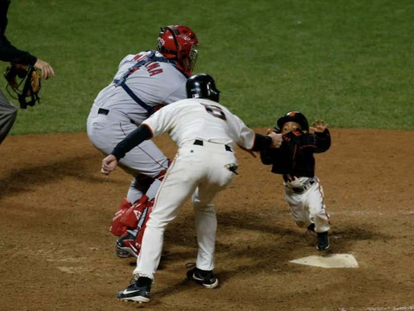 Wake Up With J.T. Snow Saving Darren Baker From Getting Steamrolled At Home Plate