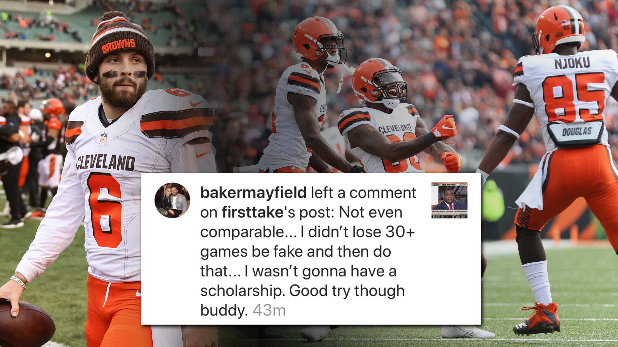 People are really pissed off about the Browns and Baker Mayfield right now.  Let me clarify 6e139c7c2