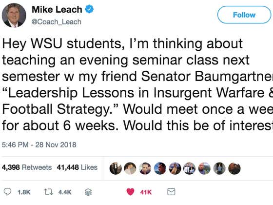 Mike Leach Is Looking To Teach A Class On War Next Semester At Washington State