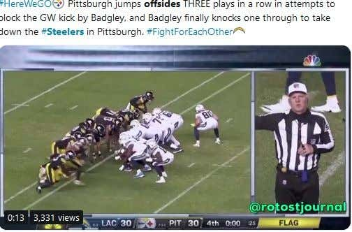 Did The Chargers Cheat To Draw The Steelers Offsides Three