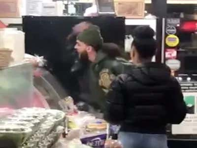 Some Mamaluke Went Ballistic And Started Throwing Stuff At A Deli Worker Because His Bacon, Egg, And Cheese Sandwich On A Cinnamon Raising Bagel Was Taking Too Long