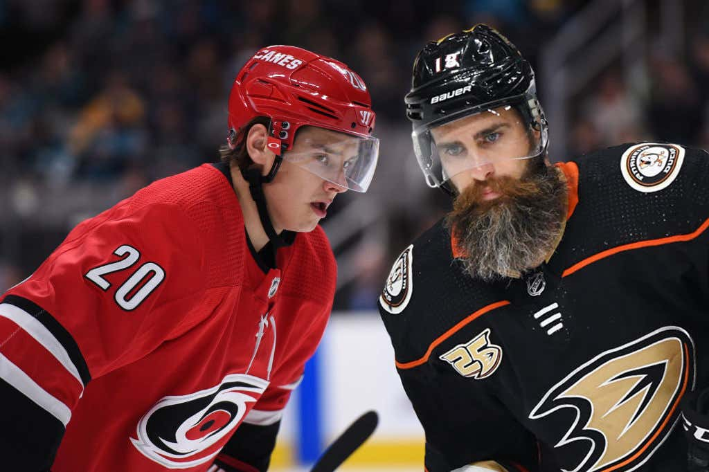e52821dcd It s Color Rush Friday In The NHL With Carolina And Anaheim Both Wearing  Their