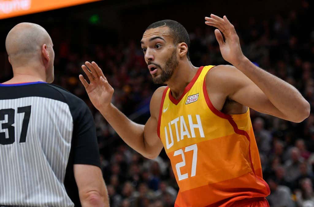 finest selection 1891b db611 Sacramento Kings v Utah Jazz. Rudy Gobert vs NBA refs is my favorite ...