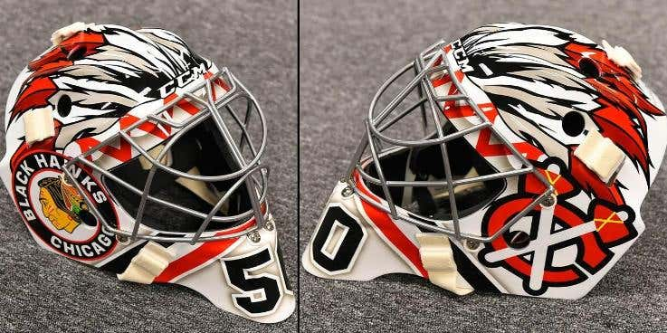 Corey Crawford S Mask For The Winter Classic Is Straight Heat Barstool Sports