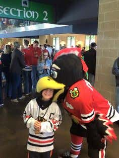 Tommy Hawk, Blackhawks Mascot/Enforcer Ready To Throw Bombs