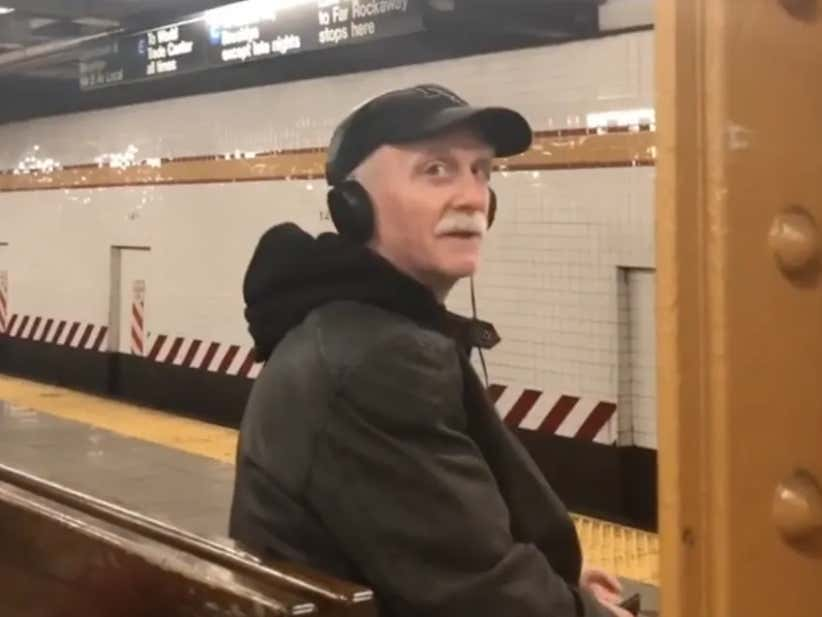 This Grandpa Rapping As He Waits For The Subway Is The Best