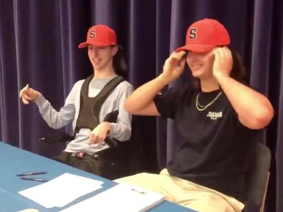 Must Watch - Recruit Has Beautiful Signing Day Ceremony With Friend