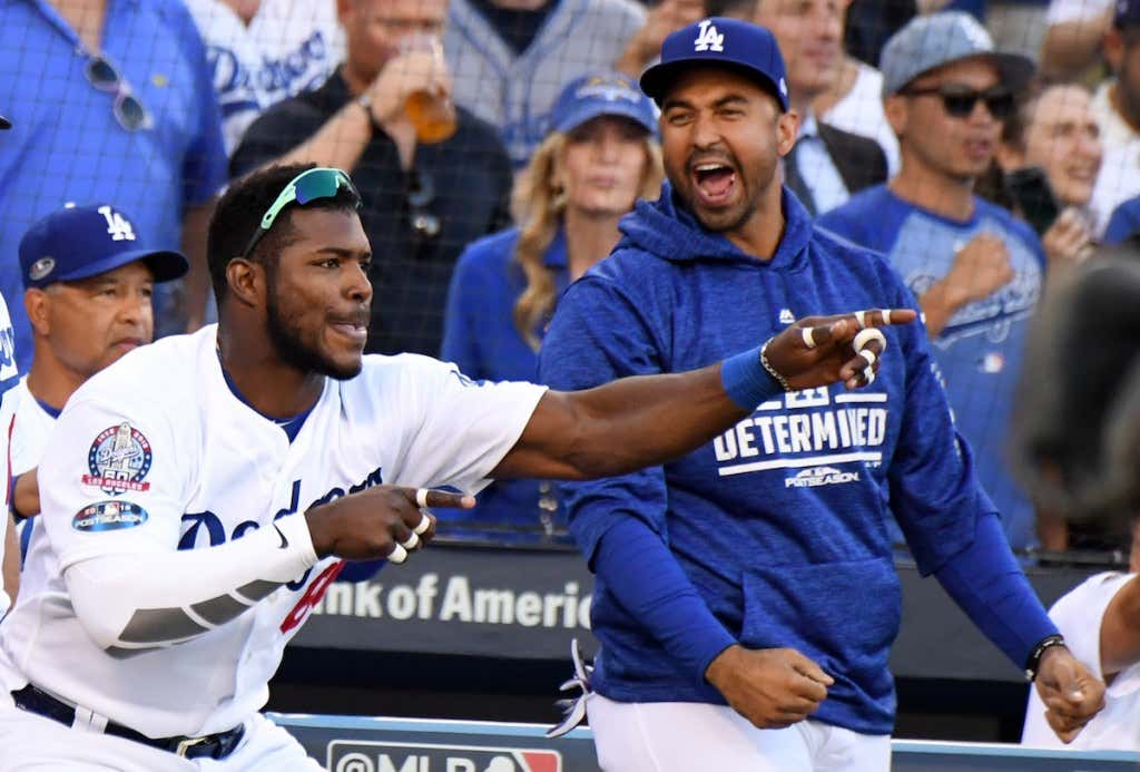 League Championship Series - Los Angeles Dodgers v Milwaukee Brewers - Game  Five ca6e8e198db