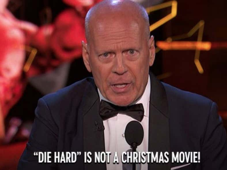 Die Hard Is NOT A Christmas Movie. Get Over It.