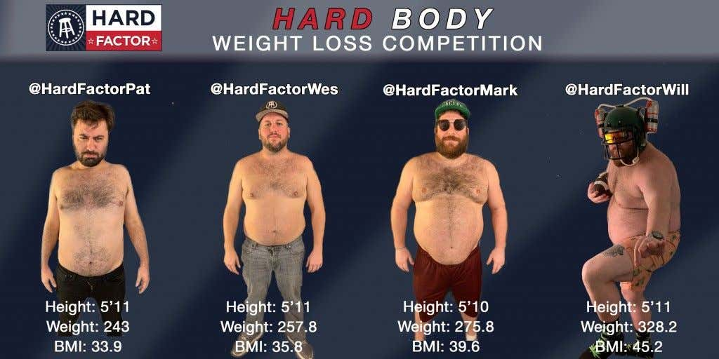 The Hard Factor Hard Body Competition One Month Update Barstool Sports