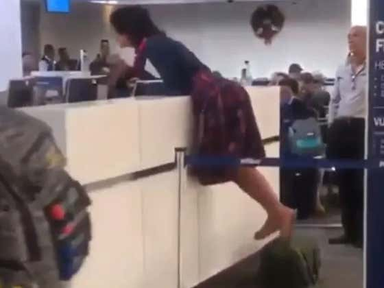 This Lady Was Not Happy About Being Stuck At the Airport   (Understatement)