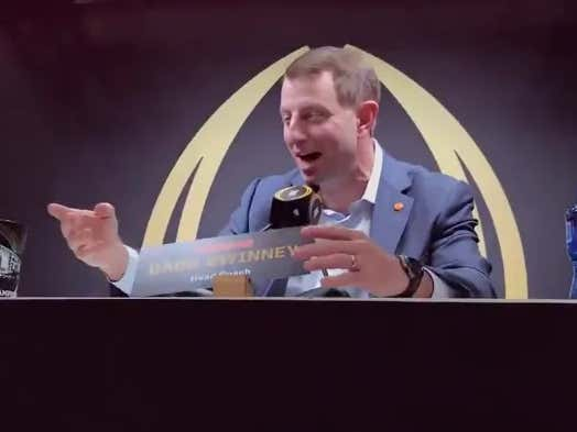 Dabo Swiney Was Incredibly Excited To Finally Meet His Hero, Joey Chestnut