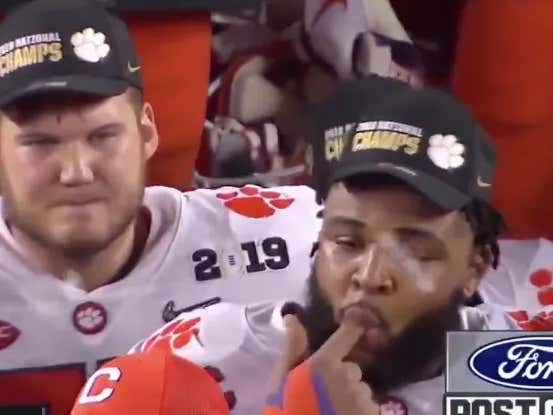 Dabo Gets A Wet Willy, Tells Clemson Its Time To Get Back To Work On Friday #FootballGuy