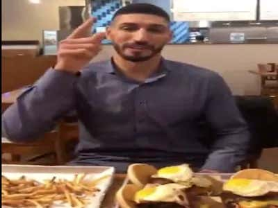 """Enes Kanter Ate 7 Cheeseburgers With Fries Then Left Practice The Next Day With An """"Illness"""""""