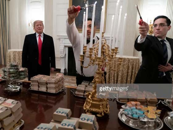 """Recapping Clemson's Night Of """"Many, Many French Fries"""" At The White House With Donald Trump"""