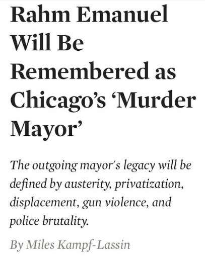 Rahm Emanuel Releases A Video About How Great Rahm Emmanuel Has Been