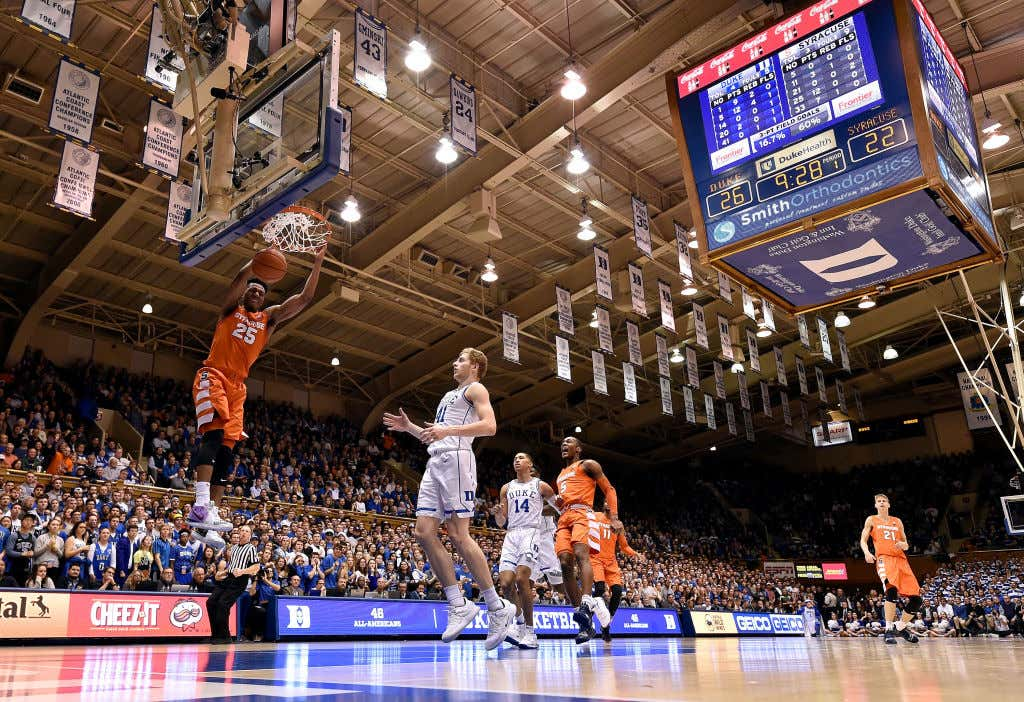 c99a334211bb SYRACUSE TAKES DOWN NUMBER ONE DUKE IN CAMERON INDOOR - Barstool Sports