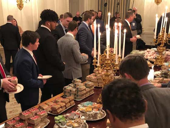 Shout Out To Clemson OL Jackson Carman For Rocking Air Pods In The White House Last Night