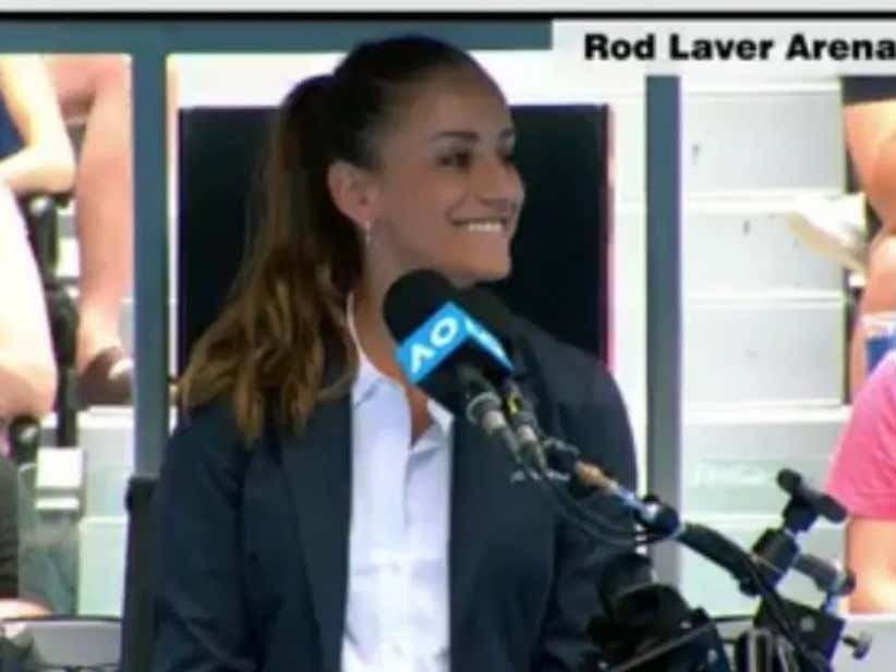 Last Night I Fell In Love With A Hot Australian Open Tennis Chair Umpire Barstool Sports